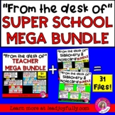 """""""FROM THE DESK OF..."""" TEACHER MEGA BUNDLE! (Stationery and"""