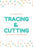 Tracing&Cutting practice (HANDMADE ILLUSTRATIONS)