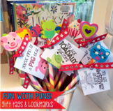 FUN WITH PUNS! Pencil Tags, Valentines, and Bookmarks