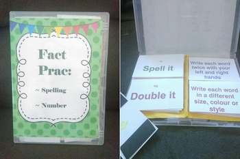 'Fact Prac' Spelling and Number Cards