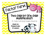 """Factor Farm"" Two-Digit by One-Digit Multiplication Game B"
