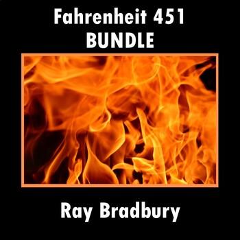 """""""Fahrenheit 451"""": Bundle with Test, Quizzes, Essay Prompts, Study Guides, & Keys"""
