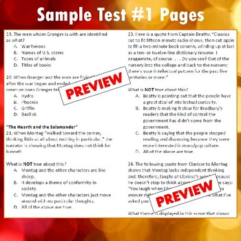 """Fahrenheit 451"": Test, Study Guide, & Key"
