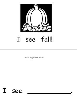 """""""Fall"""" Emergent Reader Book"""