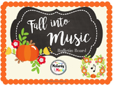 """Fall"" into MUSIC bulletin board / door decor!"
