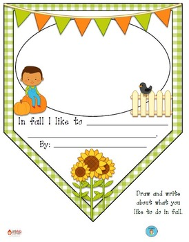 """Fall is Fun"" Class Pennant Banner with Worksheet"