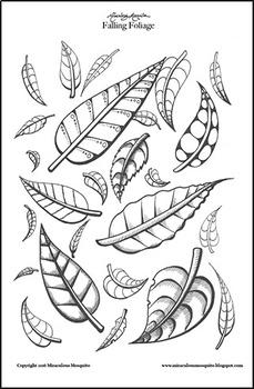 'Falling Foliage' Coloring Page Printable