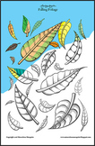 'Falling Foliage' Coloring Page Printable