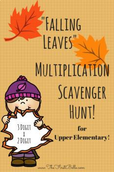 'Falling Leaves' Multiplication Scavenger Hunt (3 Digit by 2 Digit)