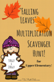 'Falling Leaves' Multiplication Scavenger Hunt (3 Digit by