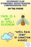 """Fame Is a Bee"" & ""April Rain Song"" MC Reading Analysis & Comprehension Test"