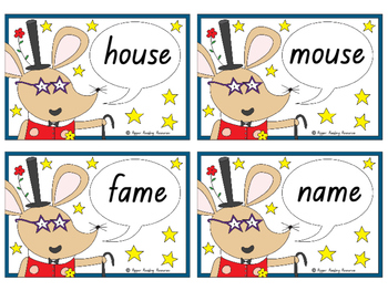 """""""Fame Mouse"""" by Joshua George - rhyming games, writing activities and bookmarks"""