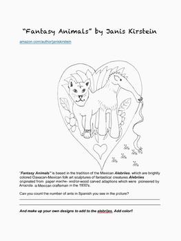 """Fantasy Animals"" Spanish Counting, Art and Design Challenge"