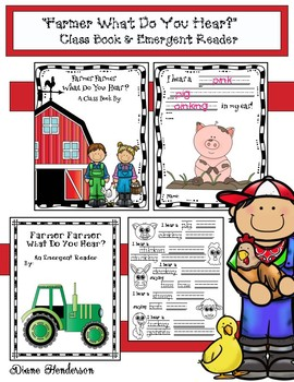 """Farmer Farmer What Do You Hear?""  Class-Made Book & Emergent Reader"