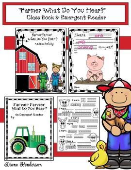 """Farmer Farmer What Do You Hear?""  Class-Made Book & Emergent Reader"