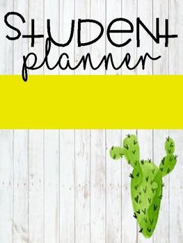 Cactus Student Planner {Farmhouse Bundle}
