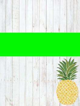 Pineapple Student Planner {Farmhouse Bundle}
