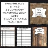 """""""Farmhouse look"""" fully editable 2017-2018 secondary teache"""