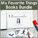 "Four Seasons ""Favorite Things"" Booklets  with visual choices"