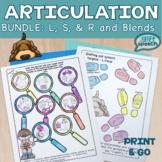 Articulation NO PREP Bundle for S, L, R, and blends (s-l-r)