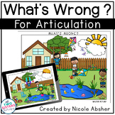 "Articulation Carryover Activity: SPRING ""What's Wrong?"""