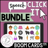 BUNDLE Speech Click It Articulation Game BOOM CARDS™ Dista
