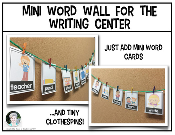 Mini Word Wall {February}  for the Writing Center - Interactive!