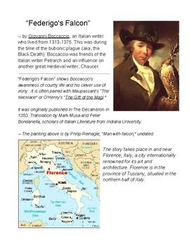 """Federigo's Falcon,"" by Boccacchio as a Script, Reader's Theater, Irony O'Henry"