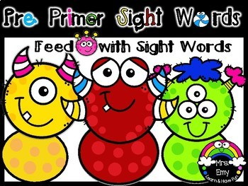 [ Feed The Hungery Monster] Pre Primer Sight Words Center