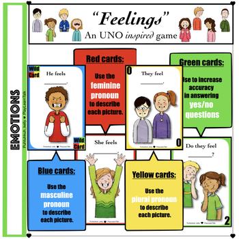"""(Level 1)""""Feelings"""" card game"""