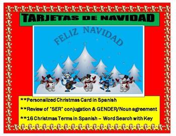 feliz navidad make your christmas cards in spanish ser gendernoun review