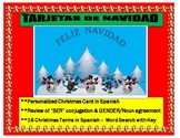 """Feliz Navidad"" Make your Christmas Cards in Spanish- ""SER""/ Gender/Noun Review-"