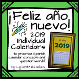 ¡Feliz año nuevo! Personal 2019 Calendars to Practice Span