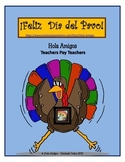 ¡Feliz Día del Pavo! Color by number in Thanksgiving Spani