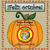 ¡Feliz octubre!-Colors in Spanish (6 pages)Happy October!