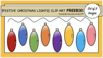 {Festive Christmas/Holiday Lights} Clip Art Set FREEBIE!!!