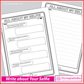 'Festive Selfies' Fun Christmas Art and Craft Project, with 7 tablet templates