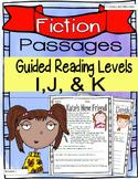 (Fiction) Leveled Passages Guided Reading Levels I,J, K (Lexiles 290-440)