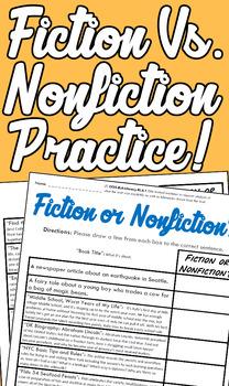 """Fiction or Nonfiction?"" Practice Pack!"