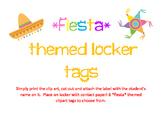 *Fiesta* Theme Locker Tags