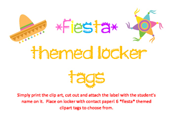 *Fiesta* Theme Locker Tags