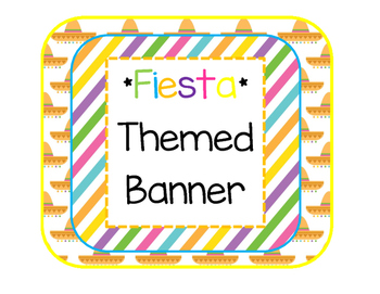 *Fiesta* Themed Banner