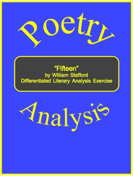 """Fifteen"" by William Stafford Differentiated Literary Anal"