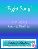 """Fight Song"" A Socratic Seminar Unit of Study"