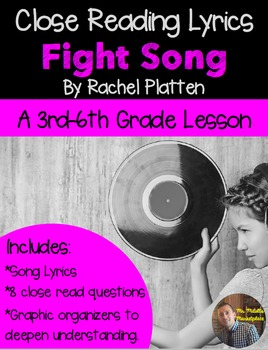 "Poetry They Will LOVE: Read with Song Lyrics- ""Fight Song"""