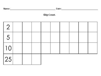 """Fill In The Blank"" Number Grids"