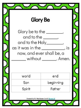 """Fill in the Blank"" Catholic Prayers"