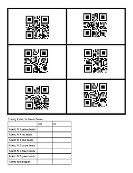 """""""Fill the Order"""" Centers - Practice with Independent Work/Following Directions"""