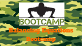 [Final Test Review] Chemical Equations Activity: Bootcamp!