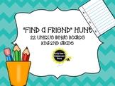 """""""Find A Friend"""" Hunt- BINGO Boards"""